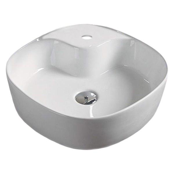 Vasque de American Imaginations, 17,3 po, blanc