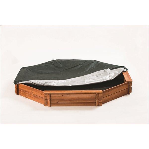 Bac à sable en bois octogonal de Creative Cedar Designs