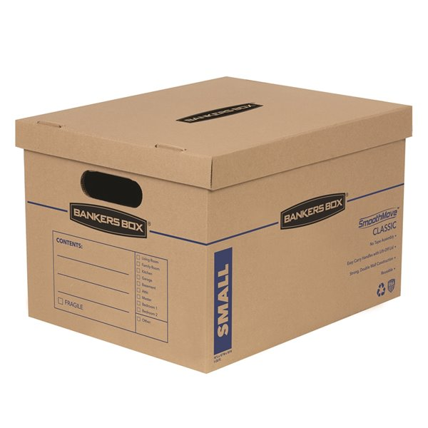 Fellowes Canada SmoothMove Small Moving Boxes - 10 Pack