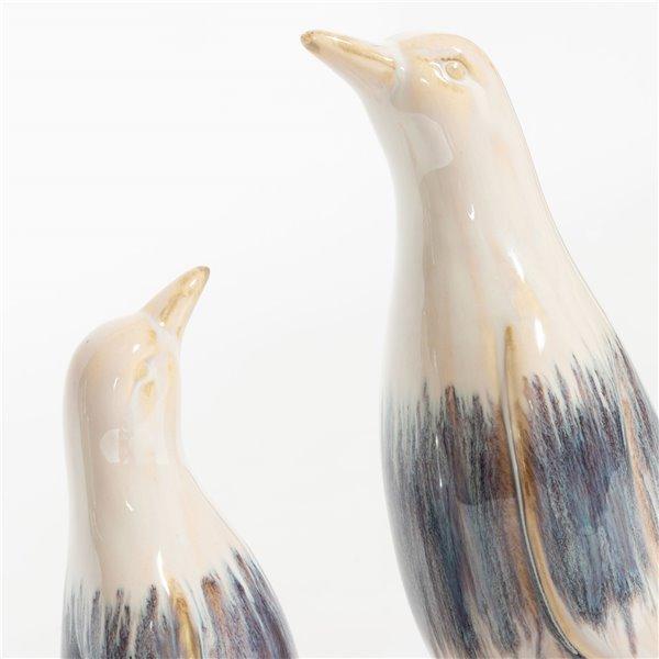 Gild Design House Pierre Charming Ceramic Penguins 10 In 04 00890 Réno Dépôt