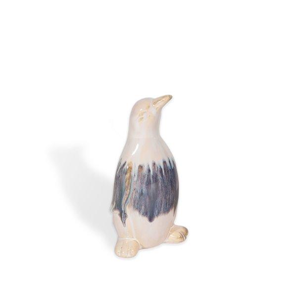 Petit pingouin décoratif en céramique Pierre Gild Design House, 8 po