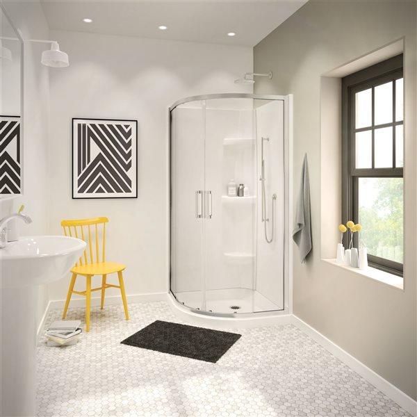 MAAX 2-Piece 32-in width Acrylic Shower Wall Set in White