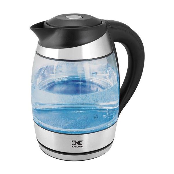 Kalorik 1.8 Litre Digital Glass Water Kettle with Colour LED