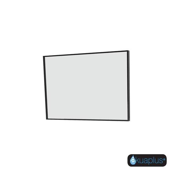 ELLA Miroir  akuaplus® rectangulaire, fini noir mat
