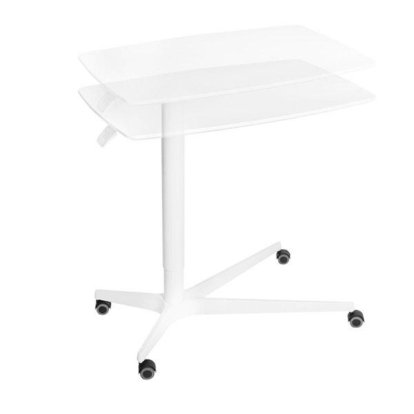Table pneumatique médicale AIRLIFT ajustable en hauteur de Seville Classics, blanc