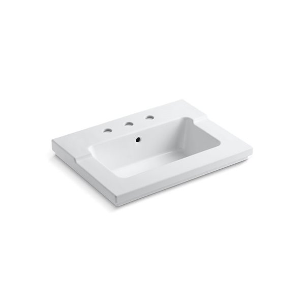 KOHLER Tresham Vanity-Top Sink with 8-in Widespread Faucet Holes - White