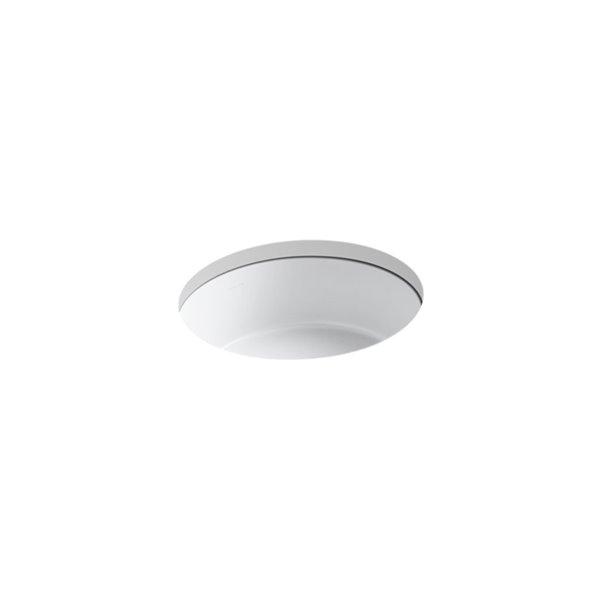 KOHLER Verticyl Round Under-Mount Bathroom Sink - White