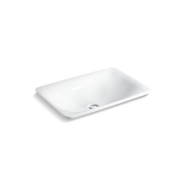 KOHLER Paisley Carillon Rectangle Wading Pool Bathroom Sink - White