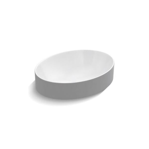KOHLER Vox Oval Vessel Bathroom Sink - White
