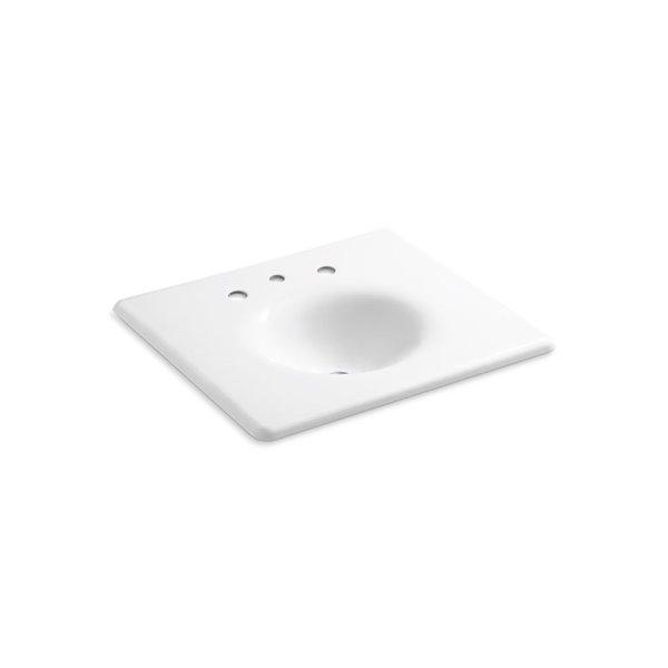KOHLER Impressions Vanity-Top Bathroom Sink with Faucet Holes - 25-in - White