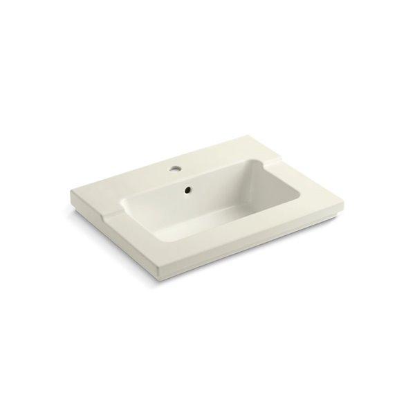 Meuble-lavabo avec trou unique de robinet Tresham de KOHLER, blanc cassé