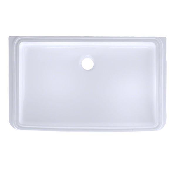 TOTO Rectangular Undermount Bathroom Sink - 23.76-in - Cotton White