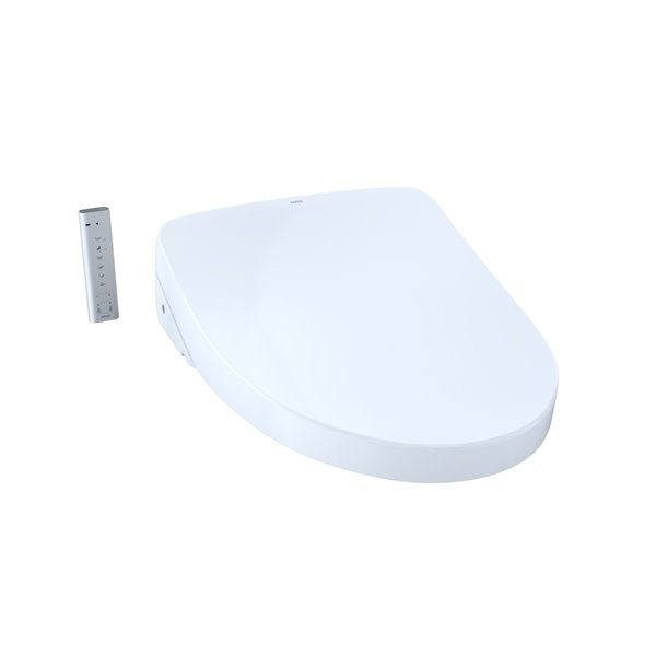 TOTO Washlet+ Ewater+ Elongated Electronic Bidet Toilet Seat - Cotton White