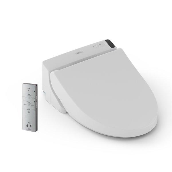 TOTO C200 Washlet Electronic Bidet Toilet Seat - Elongated - Cotton White