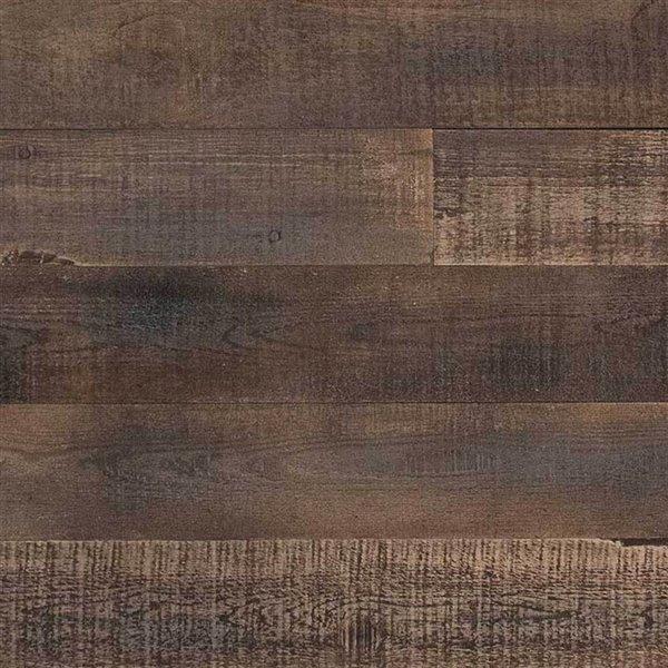 Panneau mural effet de bois recyclé ISH d'AS-IS BRAND -5 po x 4 pi, brun