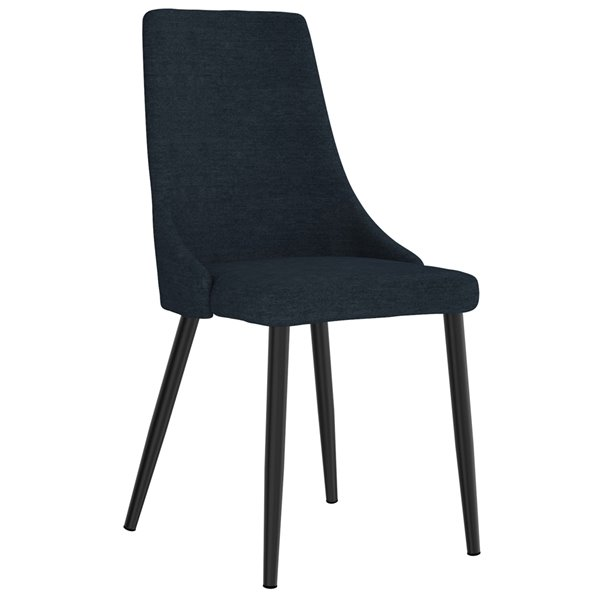 WHI Venice Mid Century Upholstered Side Chair - Blue - Set of 2