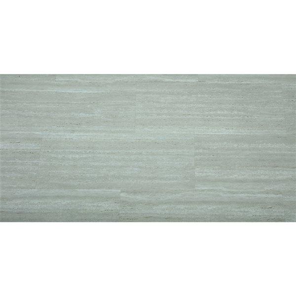 Mono Serra Vinyl Tile SPC Travertino Light Gray 4.2 mm - 28 sq. ft / case