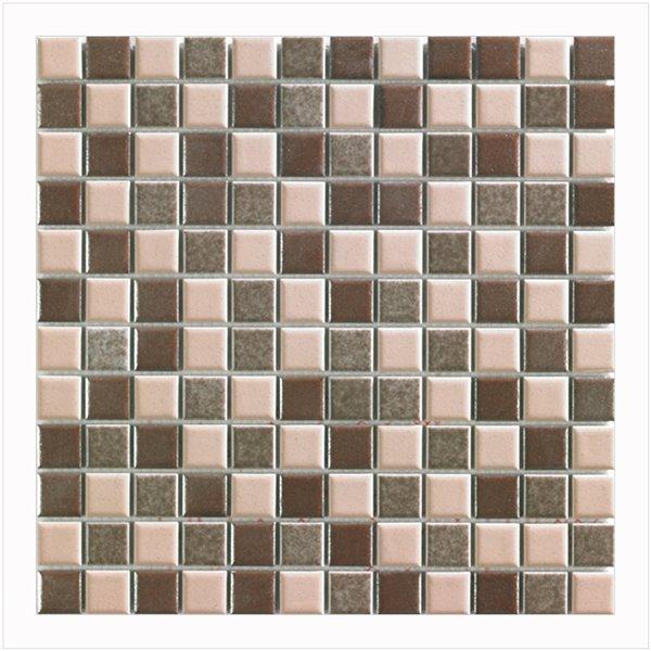 Mosaique porcelaine Mono Serra 12 po x 12 po Multi Brun 20 pi2 (20 mcx / boite)