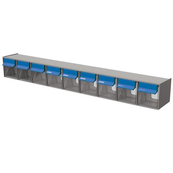 Ideal Security Tilt Bin Multistore G2- 9 bins - Grey/Blue