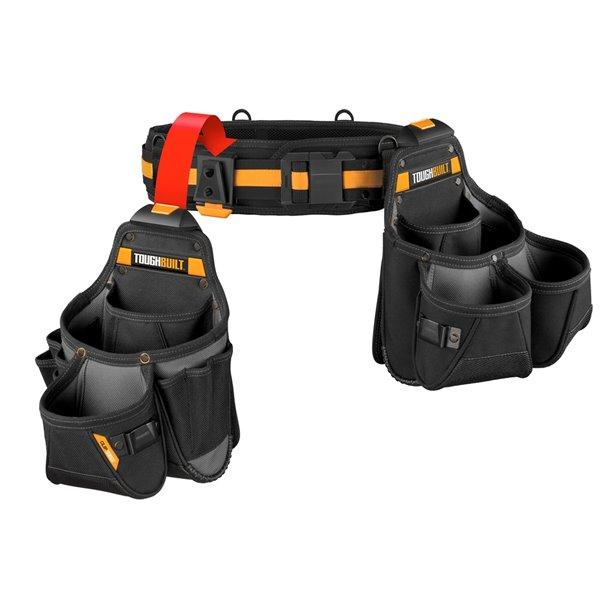 TOUGHBUILT Tradesman Tool Belt Set - 3-Piece - 32-in to 48-in - Black