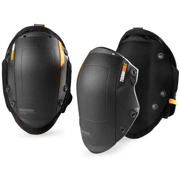 TOUGHBUILT 2-in-1 GelFit Rocker Knee Pads - Plastic - Black