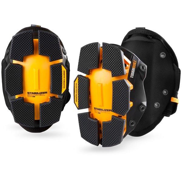 TOUGHBUILT GelFit Fanatic - Thigh-Support Stabilization Knee Pads - Black