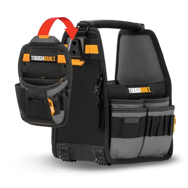 TOUGHBUILT Tote and Pouch with ClipTech - 8-in - Black