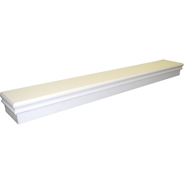 Tablette de foyer Montego de Elements style classique, blanc billant, 60 po