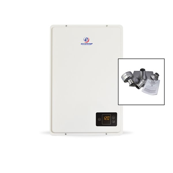 Eccotemp 20HI Indoor NG Tankless Water Heater - w/ 3-in Vertical Vent Kit