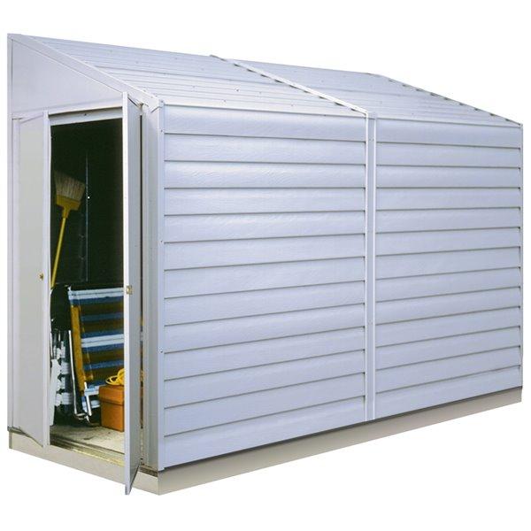 Yardsaver 4x10 ft Steel Storage Shed Pent Eggshell