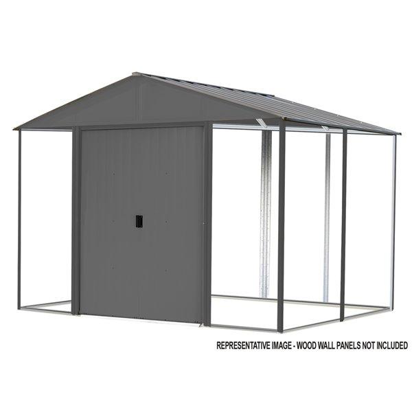 Ironwood Steel Hybrid Shed Kit 8 x 8 ft Antracite