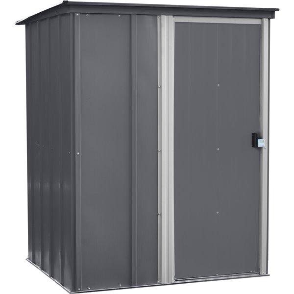 Brentwood 5x4ft Steel Storage Shed Pent Grey/Eggsh
