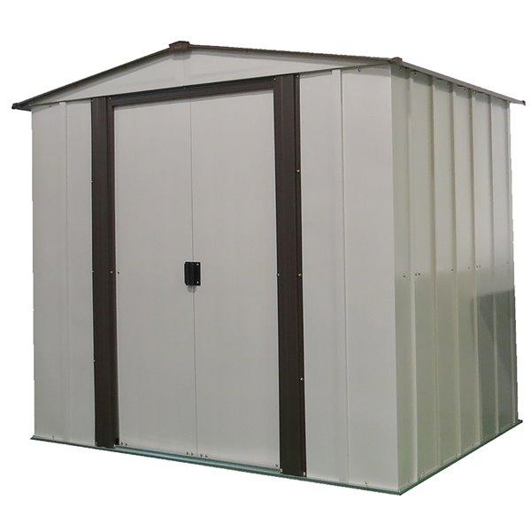 Newburgh 6x5 ft Steel Storage Shed Coffee/Eggshell