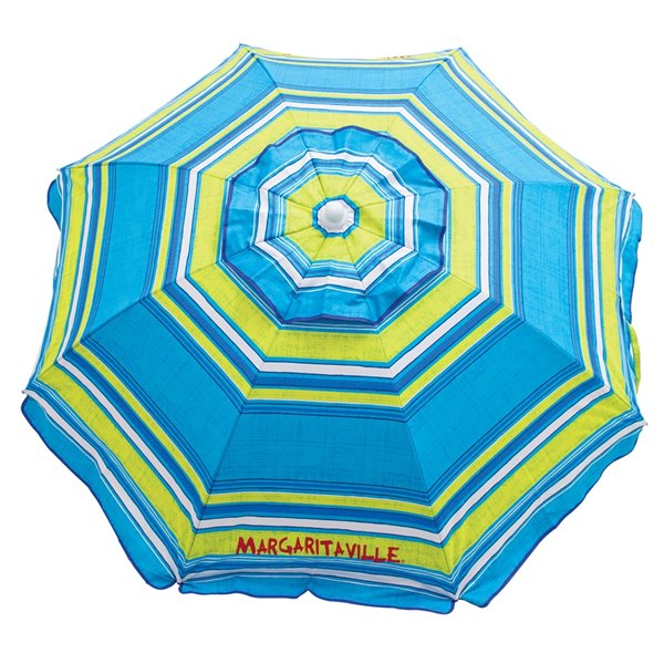 6 ft Beach Umbrella-Built-In Sand Anchor - Stripe