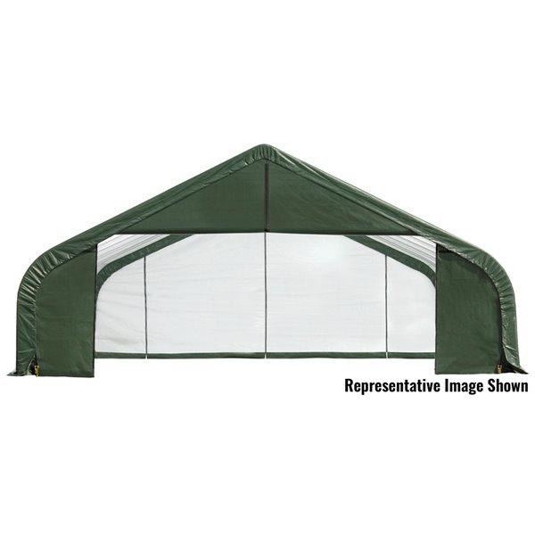 Shelterlogic Sheltercoat 28 X 20 Ft Garage Peak Green Std 86044 Reno Depot