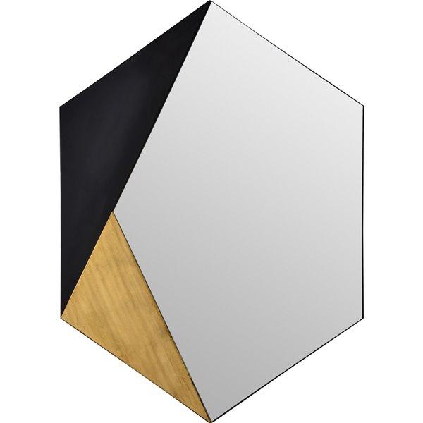 Notre Dame Design Cade Hexagonal Decorative Mirror - 30-in x 40-in