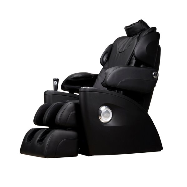 iComfort IC5500 Massage Recliner - Faux Leather - Black
