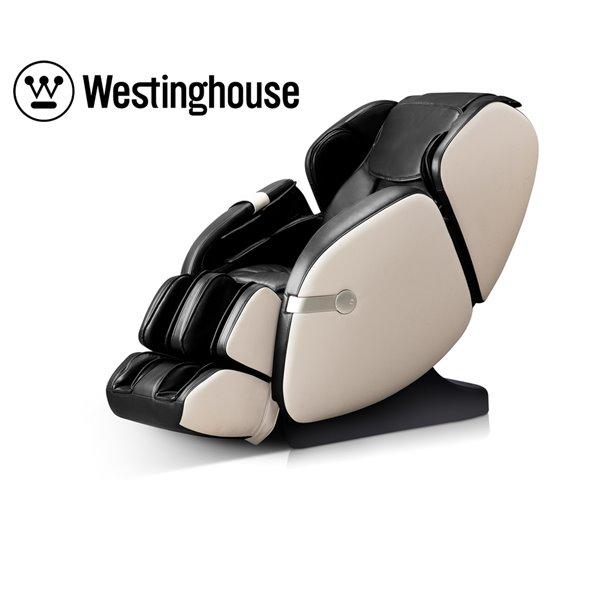 Westinghouse WES41-680 Massage Recliner - Faux Leather - Black/Beige