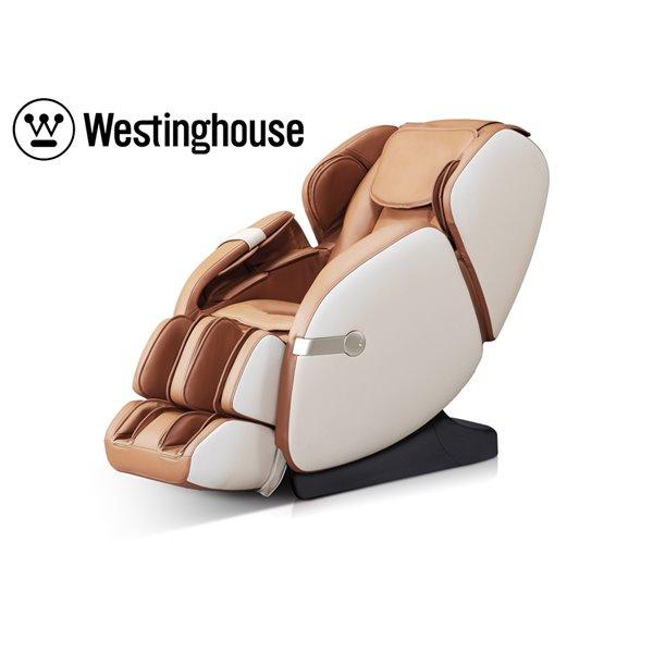 Fauteuil de massage Westinghouse WES41-680, similicuir, beige/caramel