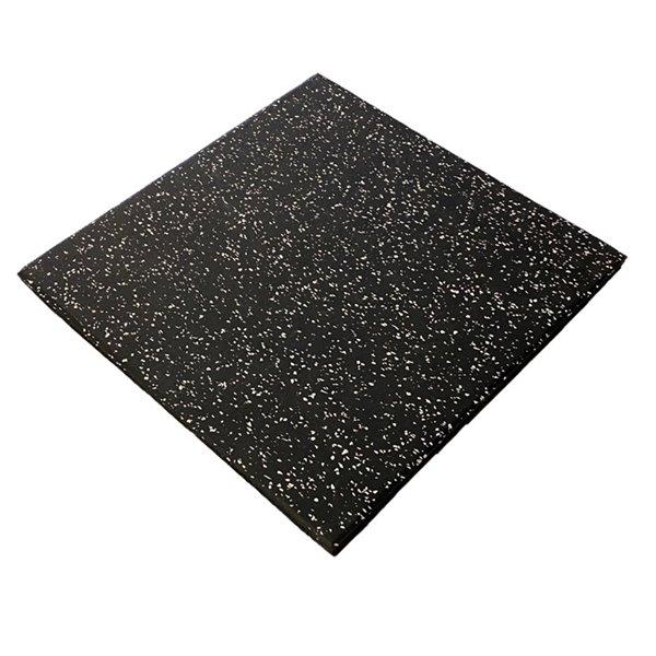 Tuile RubberMax, 19,75 po x 19,75 po, 3 pi², noir/gris