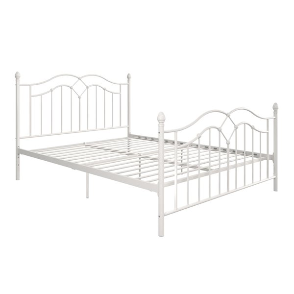 DHP Tokyo Metal Bed - Full - 44.5-in x 56.5-in x 77.5-in - White