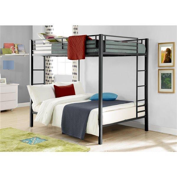 DHP Bunk Bed - Full/Full - 72-in x 78.5-in x 56.5-in - Black