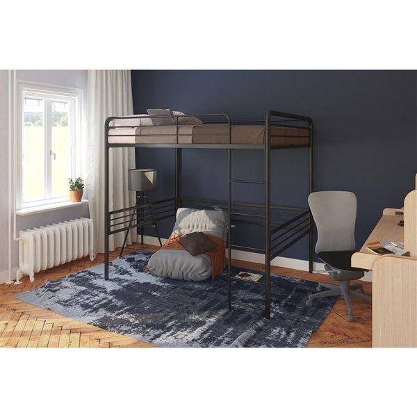 DHP Loft Bed - Full/Full - 72.5-in x 78-in x 56.5-in - Black