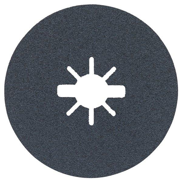 Bosch 80 Grit X-Lock Medium Grit Abrasive Fiber Discs - 25 pieces - 4.5-in