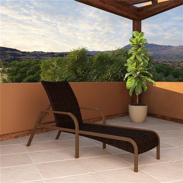 Cosco Outdoor Living SmartWick Patio Chaise Lounge - Dark Brown