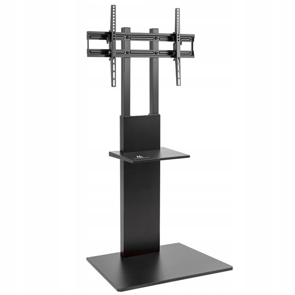 TygerClaw TV Floor Stand with Equipment Shelf - 63.7-in - Black