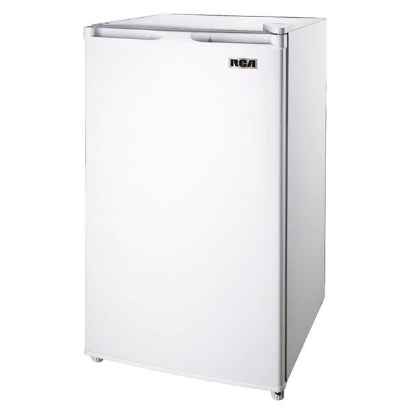 RCA 3.2 cu ft Freestanding Compact Mini Fridge with Freezer Compartment - White