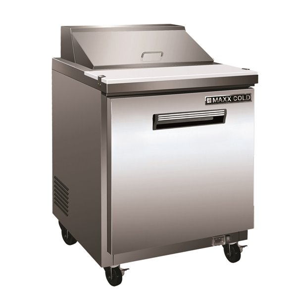 Maxx Cold Commercial Refrigerated Sandwich Prep Table - 29-in - Stainless Steel