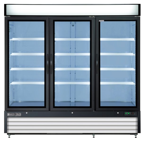 Maxx Cold X Series Commercial Refrigerator - 3-Door - 72-cu ft - White