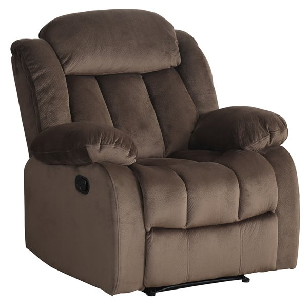 Sunset Trading Teddy Bear Microsuede Reclining Chair - Brown